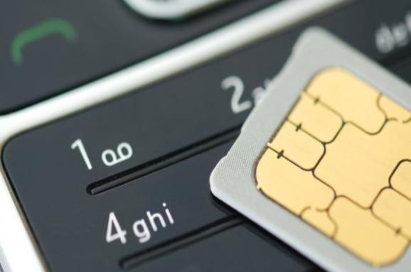 клавиатура телефона и сим-карта