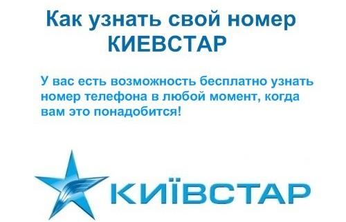 Как узнать свой номер телефона Киевстар, комбинация