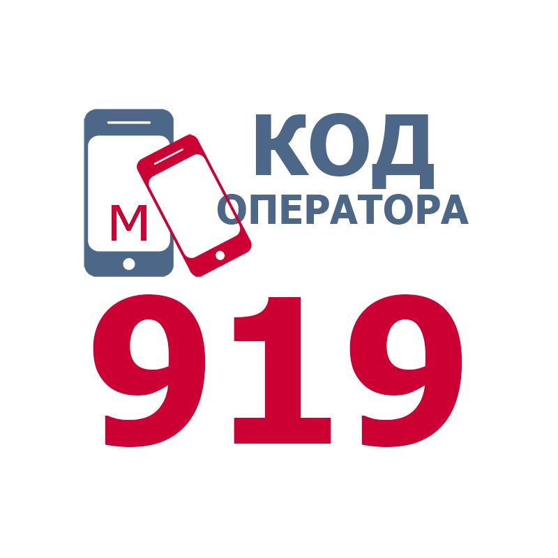 Российские операторы мобильной связи, использующие код 919