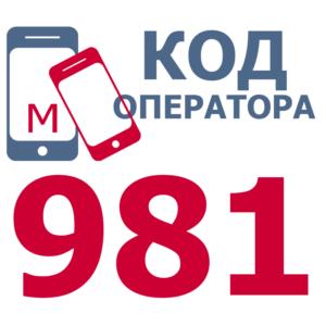 Российские операторы сотовой связи с кодом 981